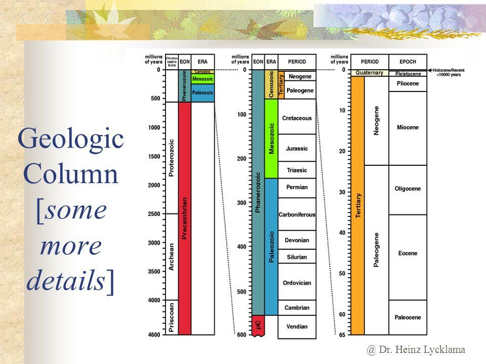 Geologic Column [some more details]